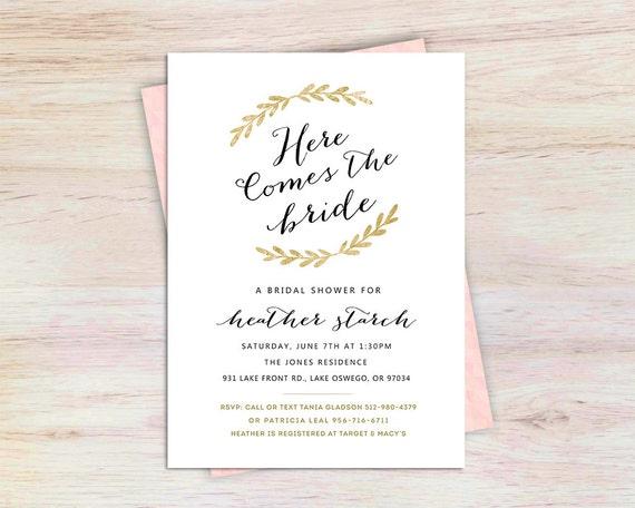 Unique Bridal Shower Invitation Bridal Shower Wedding