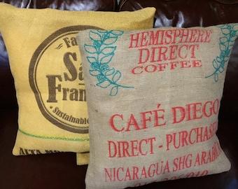 Rustic Cofffee Bean Bag Pillow