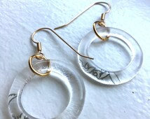 Grey Goose Recycled Bottle Glass Earrings