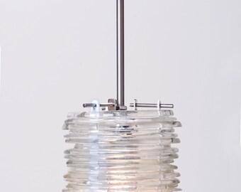Recycled bottle glass pendant - Jose Cuervo