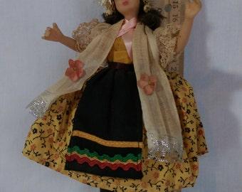 "7"" Austrian Girl by the Flagg Doll Company."