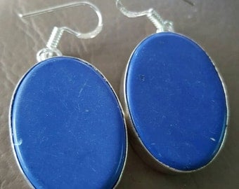 Blue Agate Earrings!