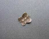 Sterling Silver Butterfly Pendant Charm Hilltribe Silver Jewelry Finding
