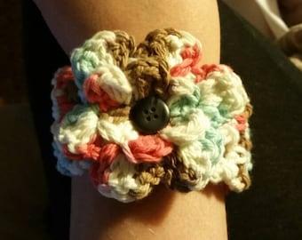 Crochet Customizable Cuff Bracelet