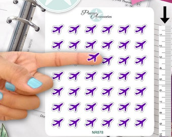 Clear Airplane Stickers Travel Stickers Planner Stickers Erin Condren Functional Stickers Decorative Stickers NR878