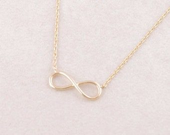 """18"""" Gold Plated Infinity Necklace"""