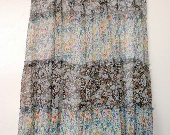 Multi-Color Floral Peasant Skirt