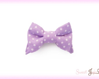 Candy Shop Bow - Small Polka Dot Fabric Bow 6 Colors - Kawaii Sweet Lolita and Fairy Kei Cute Hair Clip Accessory