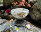 Wedding Centerpiece Glass Vase with Flowers Felt Victorian Magic Fairy Fairies Fairytale Shabby Chic Vase Mother Girlfriend Wedding Gift
