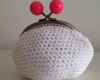 Crochet White purse