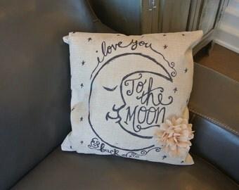 I love you to the moon pillowcase