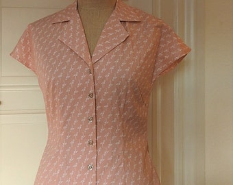 1950s 50s Vintage Inspired Shirt 1940s 40s