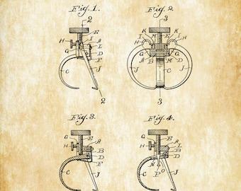 Dentist's Clamp Patent 1903 - Patent Print, Dental Office Decor, Medical Art, Dental Art, Dentist Decor, Dental Tools, Dentist Patent