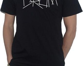 Drum (drumsticks text) T-Shirt for Drumming Drummers Drum Sticks