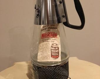 Nescafe Coffee Pot - vintage - 1955 with original instructions!