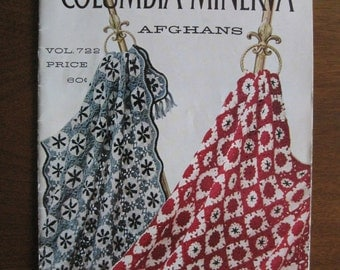 Afghans, Instruction Booklet, 14 Patterns, Columbia Minerva, Vintage