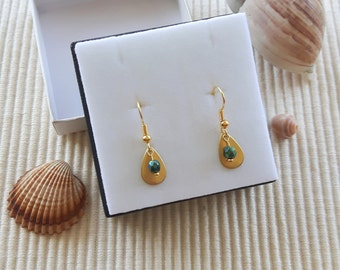 "Earrings ""gold & green"""