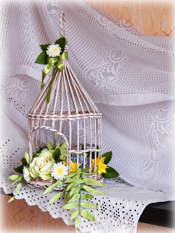 Wedding bird cage wicker decorative cage wedding props for Cage a oiseau decorative
