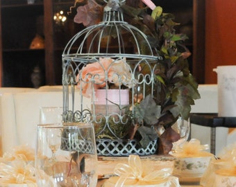 Birdcage, Rustic, Centerpiece, Wedding