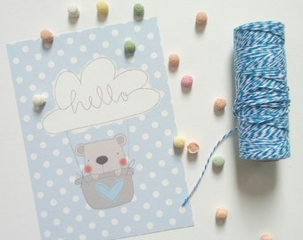 Decorations for children's rooms for children and girls pink and blue