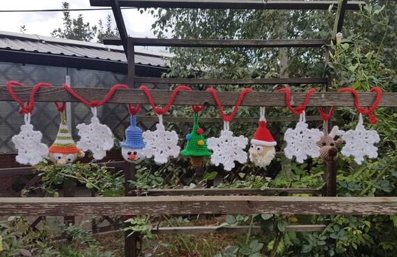 Weihnachtsgirlande weihnachtsschmuck von funnyamitoys auf etsy