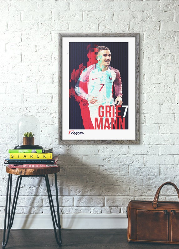 antoine griezmann griezmann france poster affiche de france. Black Bedroom Furniture Sets. Home Design Ideas