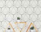 Geometric Pattern Removable Wallpaper A006