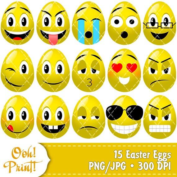 Easter Emoji Easter Clip Art Egg Emoji Smiling Eggs By