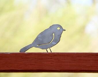 Decorative Metal Bird - Chickadee    porch, deck, yard, patio, flowerbed decor
