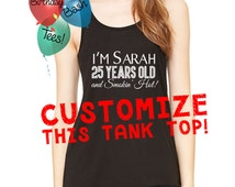 Custom Women's Tank Top, Customize your own Tank Top, Personalized Tank, Customized Racerback Tank Top, Customize Birthday Gift for All Ages