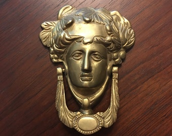 Grecian brass door knocker