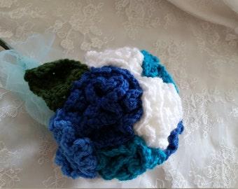 Crocheted wedding bouquet