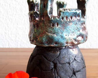 RAKU ceramic tea light holder