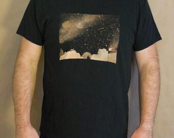 Stargazer T-Shirt Bleach Design Men's Shirt -original design -stargazer design -bleach t-shirt -stargazer shirt - stargazer bleach design