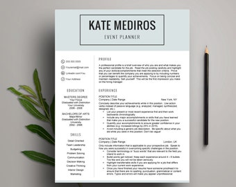 mint resume template for word creative cv 1 2 page resume with cover - Creative Resume Templates For Mac