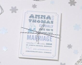 White Wedding invitation