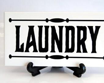 Laundry Door Sign