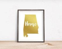 Alabama Wall Art, Roll Tide, Alabama Art Print, Typography Art Print, Typography Wall Art, Sweet Home Alabama, AL Wall Art, Bama, War Eagle