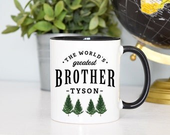 Gift for Brother, Brother Mug, World's Greatest Brother, Cute Brother Mug, Custom Brother Mug, Custom Brother Gift, Rose Gold Rebel