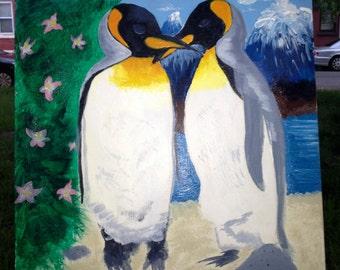 Penguin Love Painting