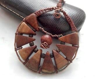 Navigator pendant// eco materials jerelry