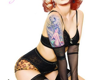 Marilyn monroe 24x36 etsy for Marilyn monroe with tattoos poster