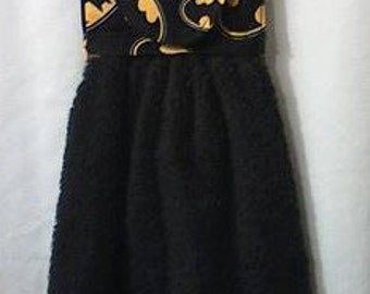 Batman hand towel black