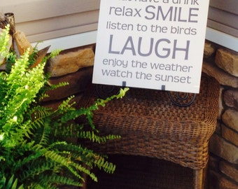 Wooden Porch Sign - *Weather Resistant