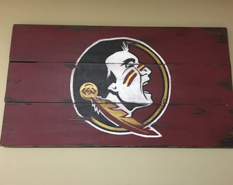 Florida State FSU Decorative Wooden Wall Hanging Sign