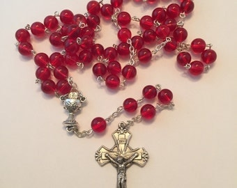 First Communion red rosary