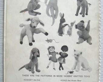 vintage More Hobbie KNITTED TOYS booklet