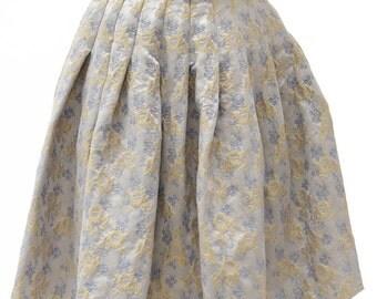 Blumarine-blue floral Skirt 38-Navy Blue-Light blue floral skirt