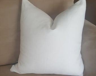 100% Linen Throw Pillow Cover-Quality-Plain White