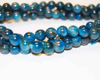 Beautiful Smooth Apatite Round Gemstone Beads Loose Beads 4mm/ 6mm/ 8mm/Approximate 15.5 inch per Strand.R-S-APA-0395